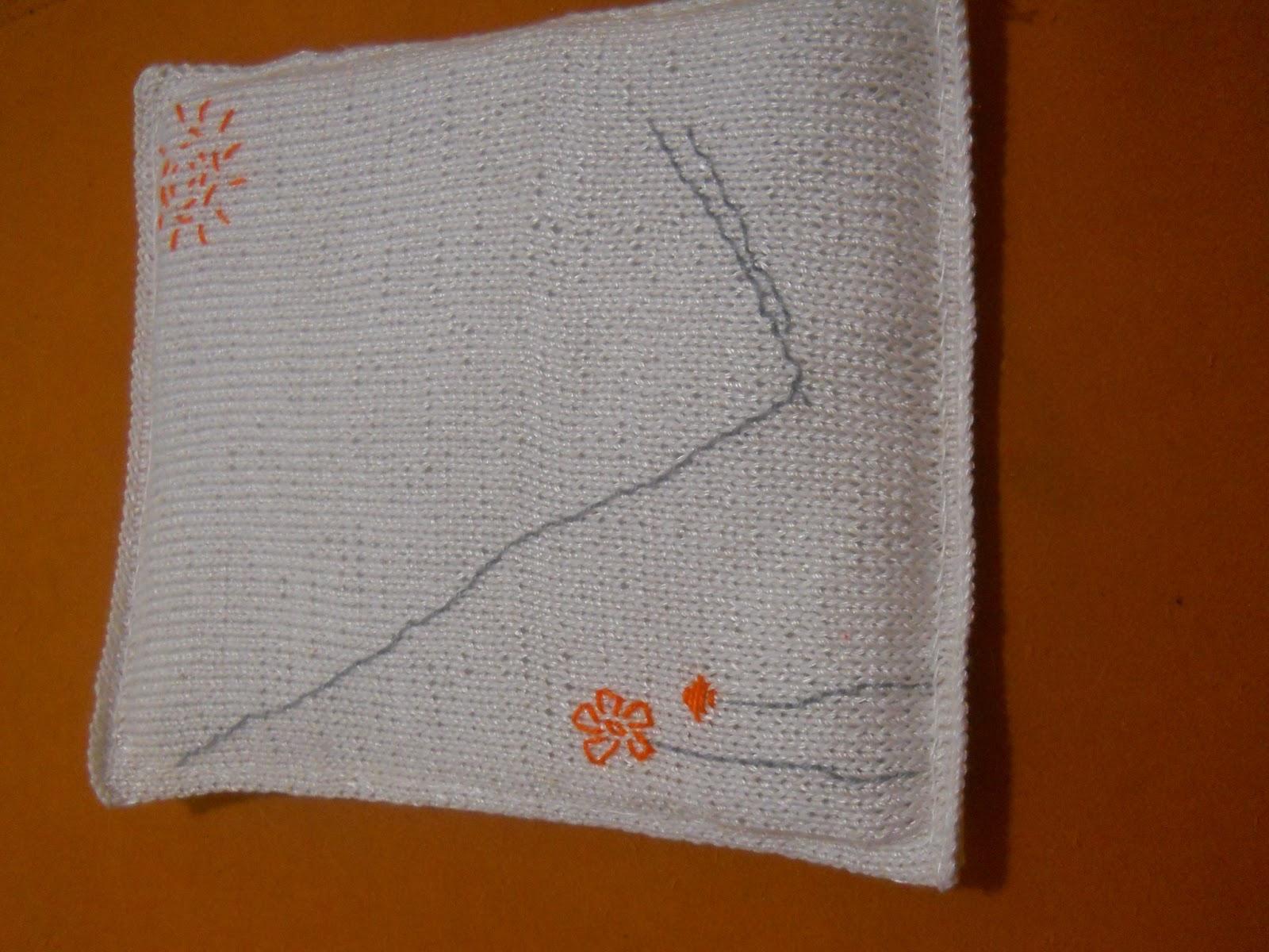 Вязаное панно Девочка на качелях. Фон