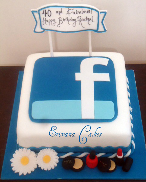Facebook Cake ~ THE INVINCIBLE WORLD