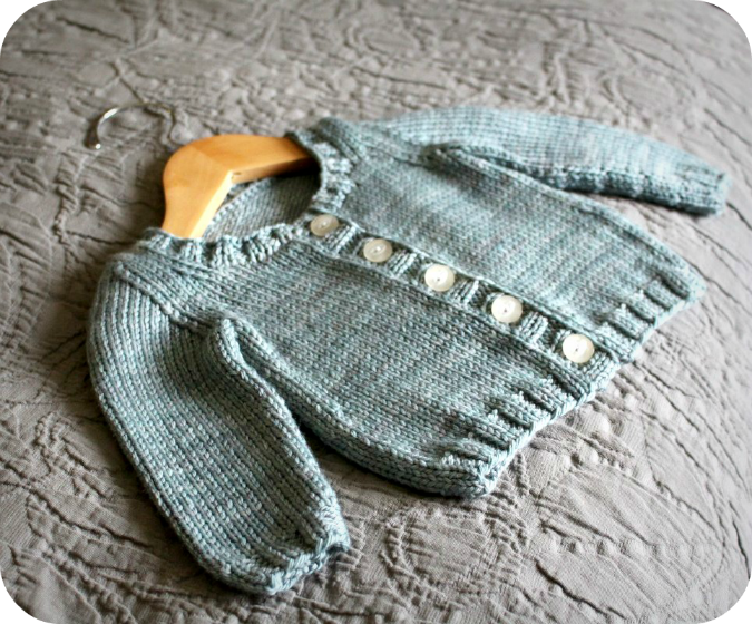 Simple Baby Cardigan Knitting Pattern : Never Not Knitting: Basic Baby Cardigan