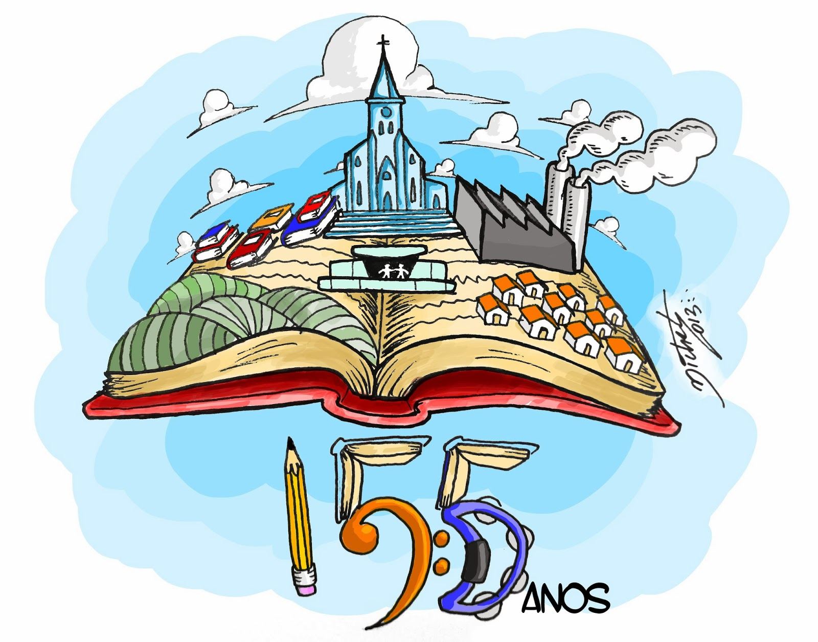 Ilustração 155º aniversário de Lençóis Paulista - Michel Ramalho