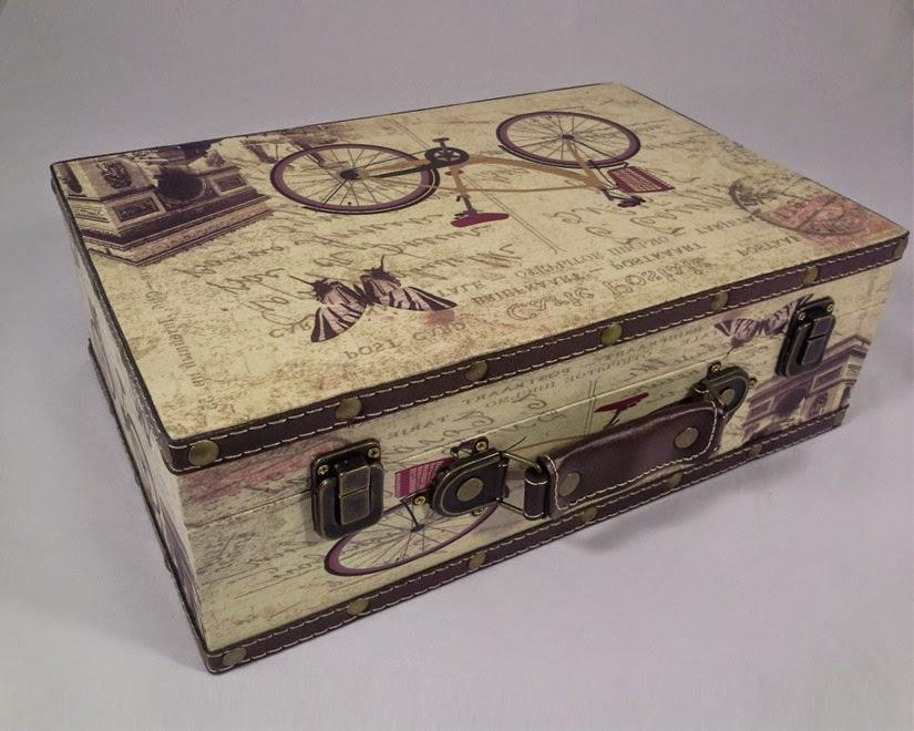 Provence stílust idéző vintage bőrönd