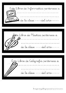 Etiquetas para libros en blanco y negro