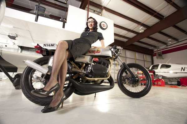 Cafe Racer Pin Up
