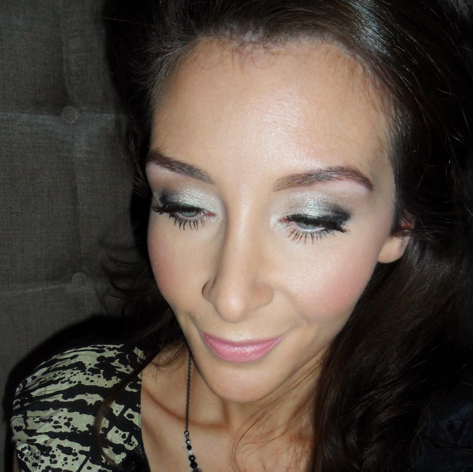Silver Metallic Party Eye Makeup
