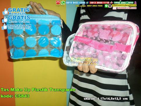 Tas Make Up Plastik Transparan
