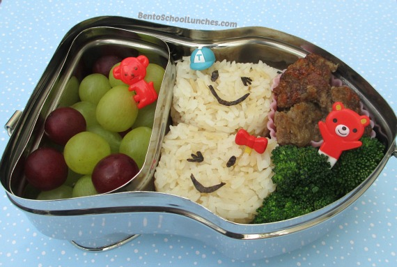 bento school lunches review happy tiffin bento boxes bears onigiri car bento and a snack. Black Bedroom Furniture Sets. Home Design Ideas