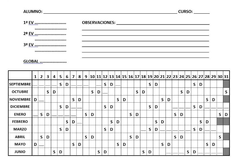 Reli en Grande: Calendario Escolar 2015 - 16