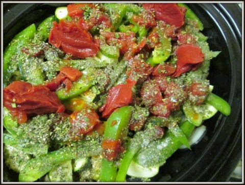 Layering vegetables