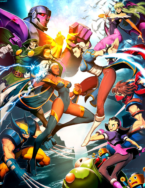 Capcom vs Marvel, Genzoman, anime wallpaper