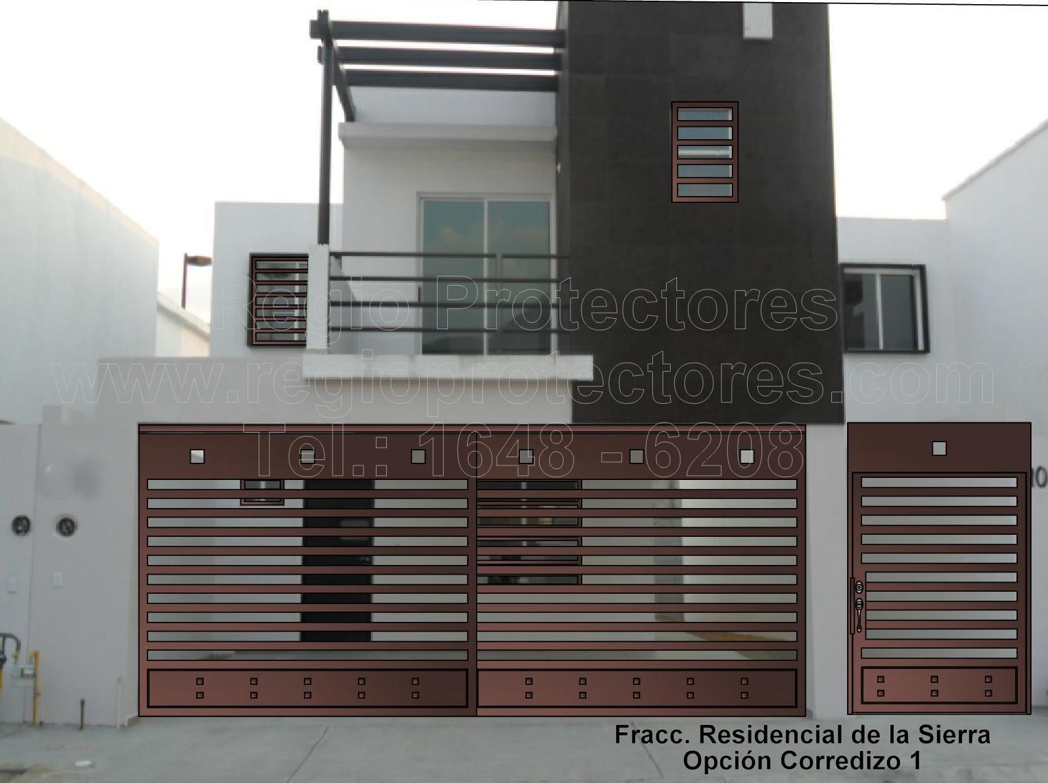 Diseño de Portón Corredizo de 2 Hojas, M.G. Fracc. Residencial de la