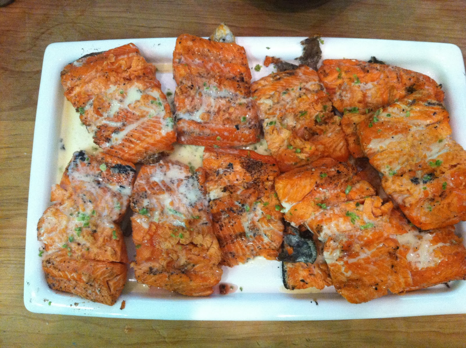 The Gourmet Project: Grilled Salmon with Lime Butter Sauce (Page 512)