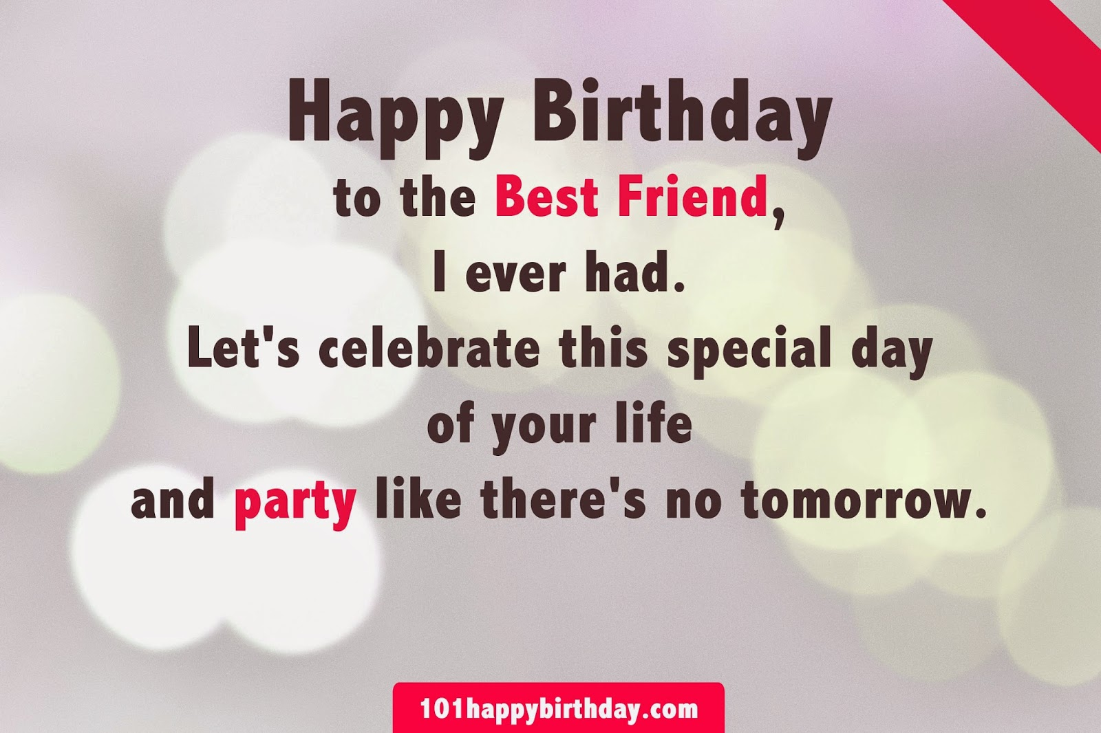 Birthday Wishes For Best Friend Images ~ Happy birthday to you best wishes ever