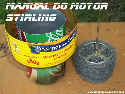 Manual do motor Stirling, pistão deslocador e cilindro