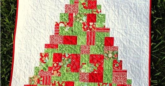Modern Patchwork Quilt Patterns Free : Frivolous Necessity: Modern Patchwork Christmas Tree Quilt Pattern