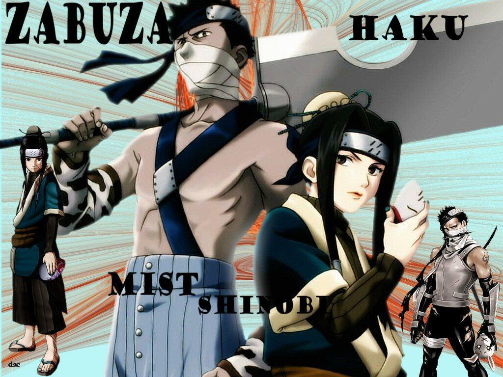 Naruto Characters Haku And Zabu