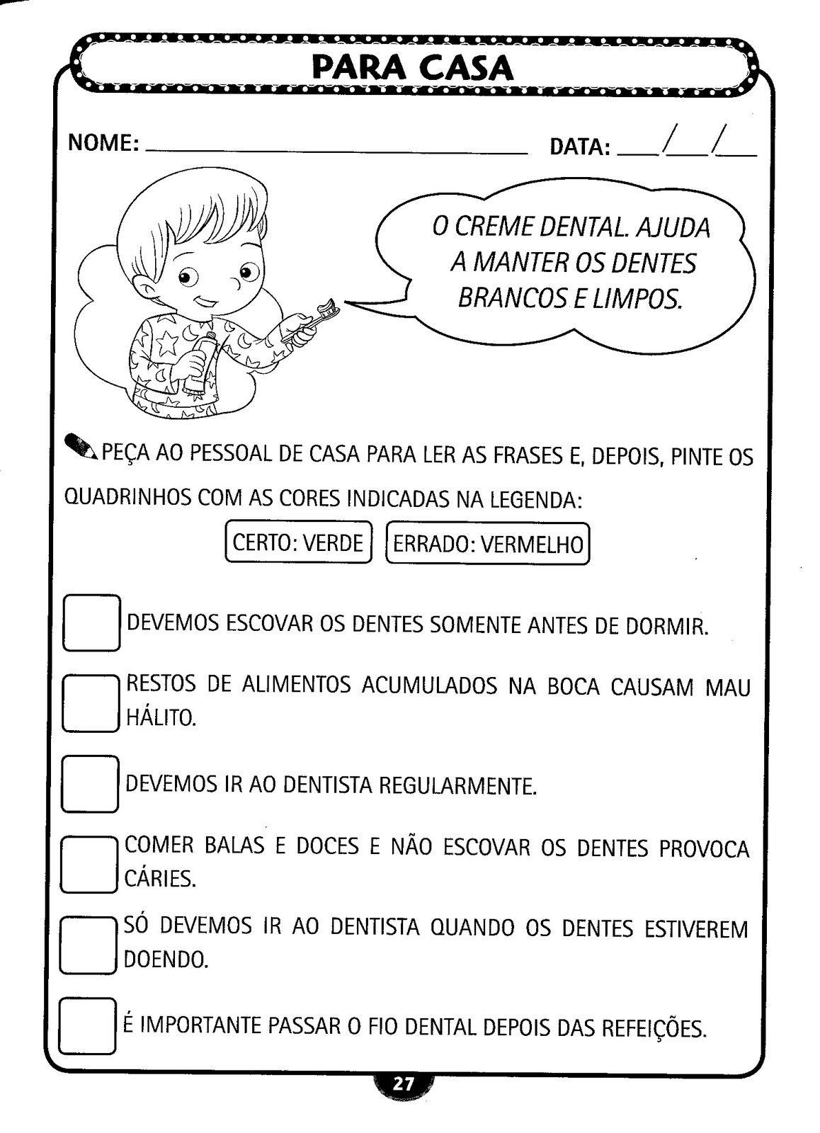 Top Plano de Aula: Higiene e Saúde (Higiene Bucal) | Armário do Professor VJ26