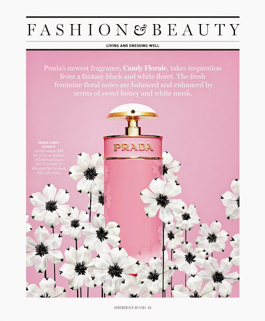 Prada's new Candy Florale fragrance feature in Sheridan Road Magazine by Jessica Moazami