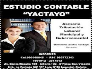 """ESTUDIO CONTABLE YACTAYO"""""""