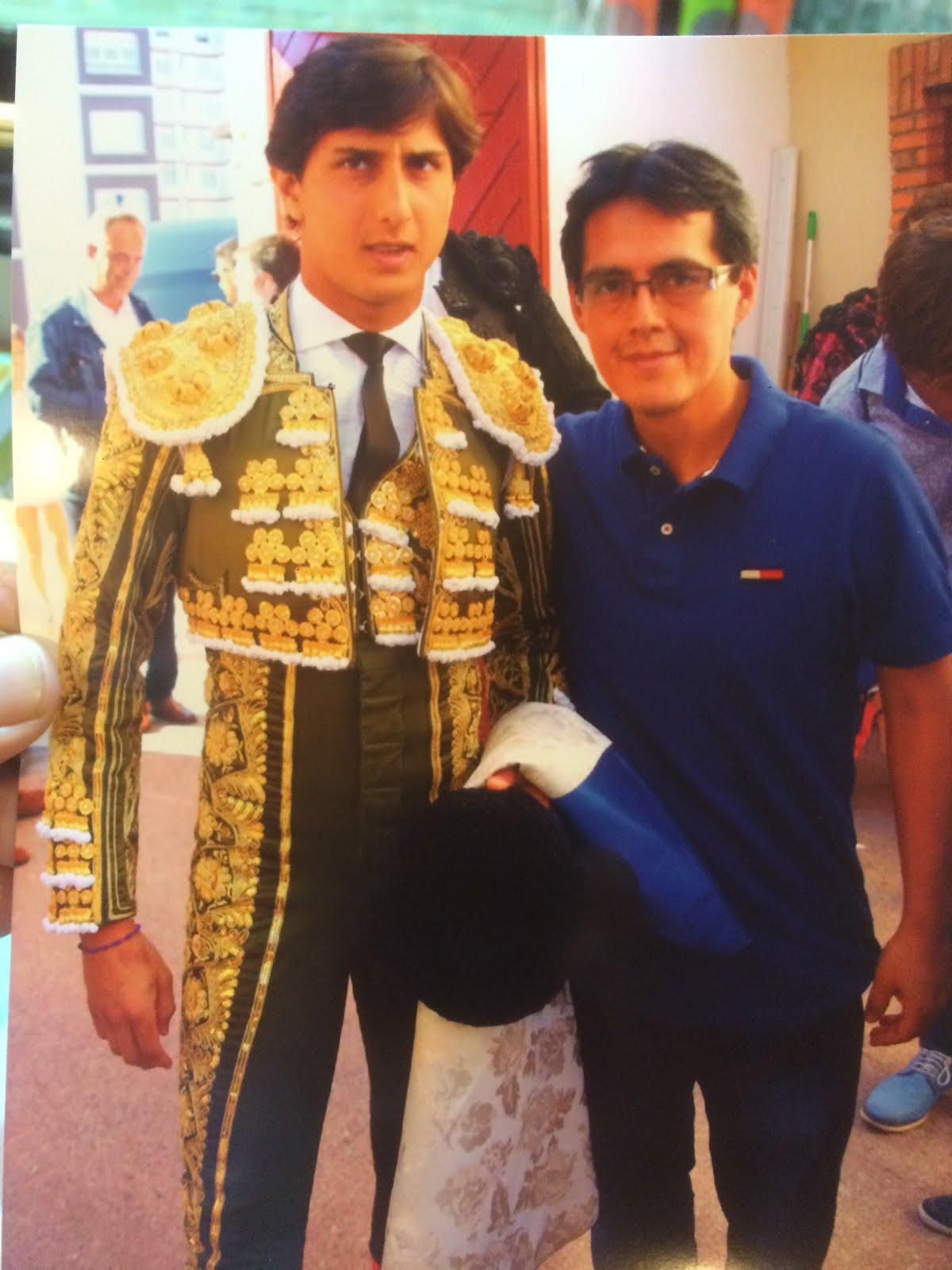 Miguel con Roca Rey