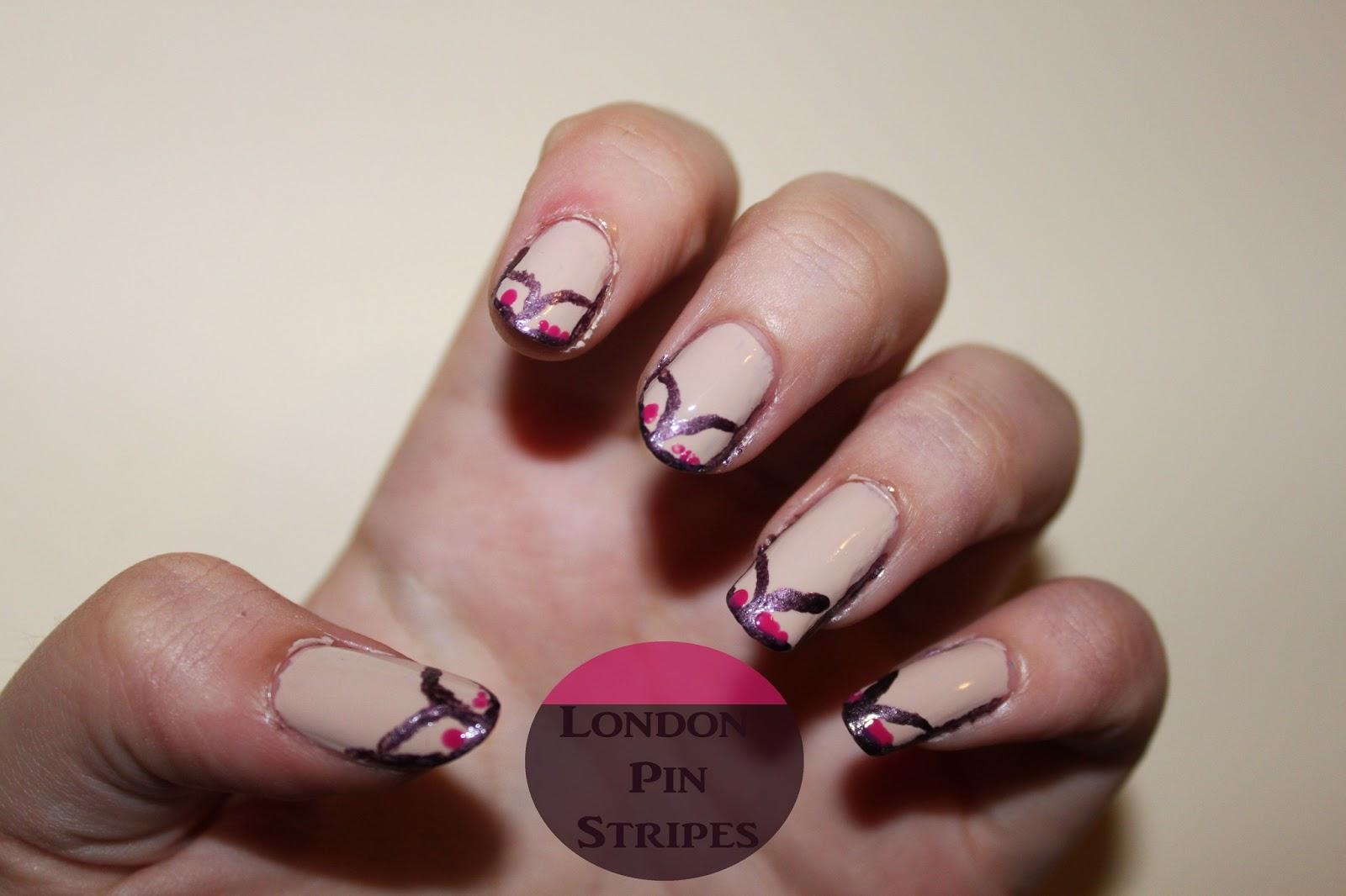 Flip flop nails | London Pin Stripe