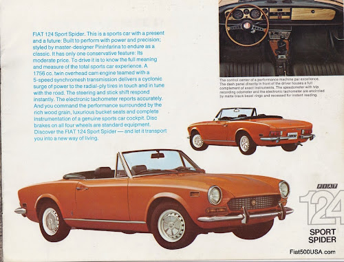 1974 Fiat 124 Sport Spider Brochure