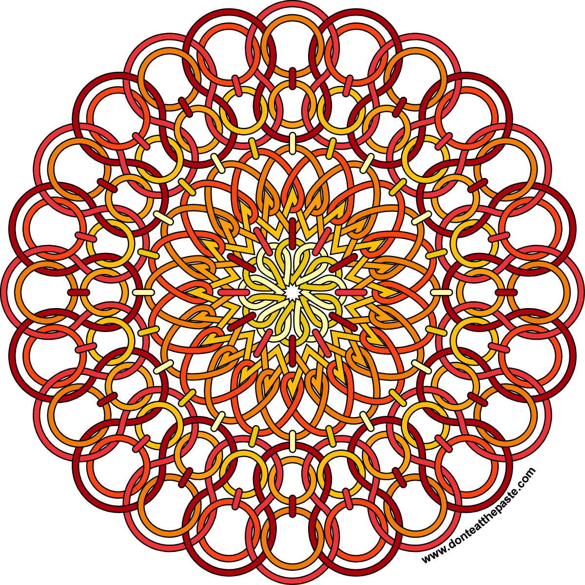 Don 39 t Eat the Paste Wire Sun Mandala to color and life update