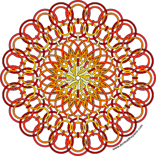 sun mandala- blank version available to color