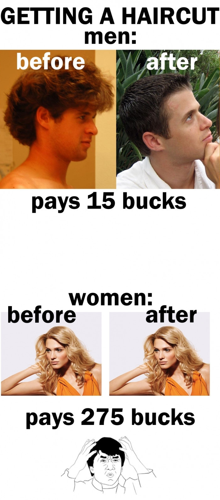Men vs Women - Getting A Hair Cut