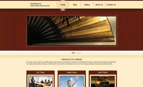 Free brown coffee business website template flashek Images