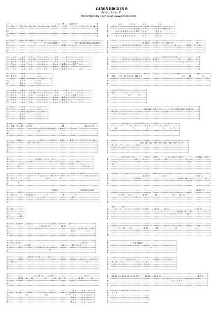 Guitar : guitar tabs of canon rock Guitar Tabs Of at Guitar Tabs Of Canonu201a Guitar Tabsu201a Guitar