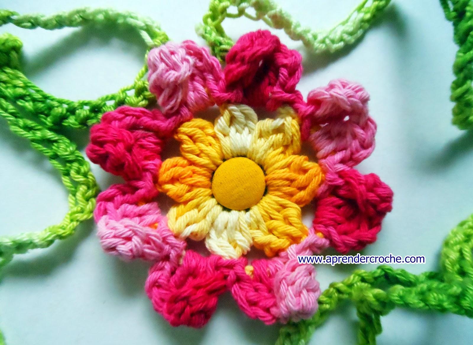 aprender croche mini flores edinir-croche dvd loja frete gratis