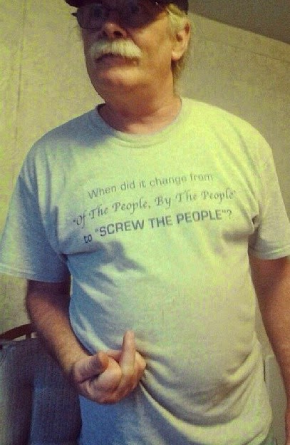 When did it change from of the people, by the people to screw the people