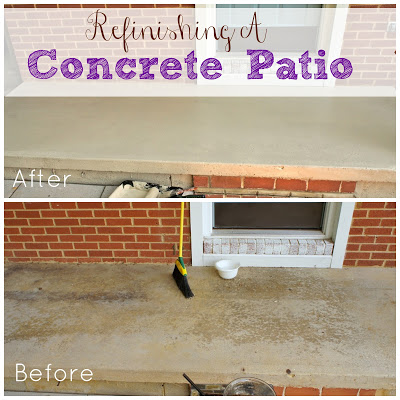 Refinishing a concrete patio for Concrete patio paint before and after