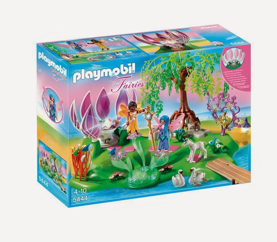 JUGUETES - PLAYMOBIL Fairies : Hadas 5444 Isla de las Hadas con Fuente de Piedras Preciosas Toys | Producto Oficial | Edad: 4-10 años