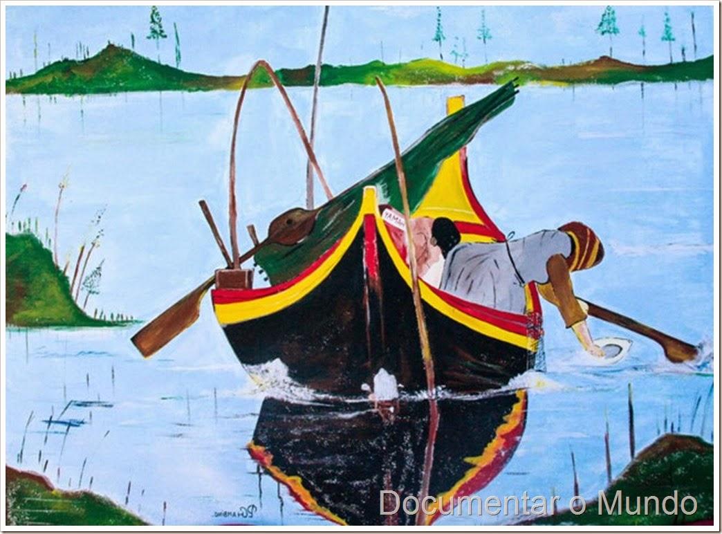 Pintura de barco avieiro; Póvoa de Santa Iria