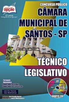 Apostila PDF Câmara Municipal de Santos TÉCNICO LEGISLATIVO.