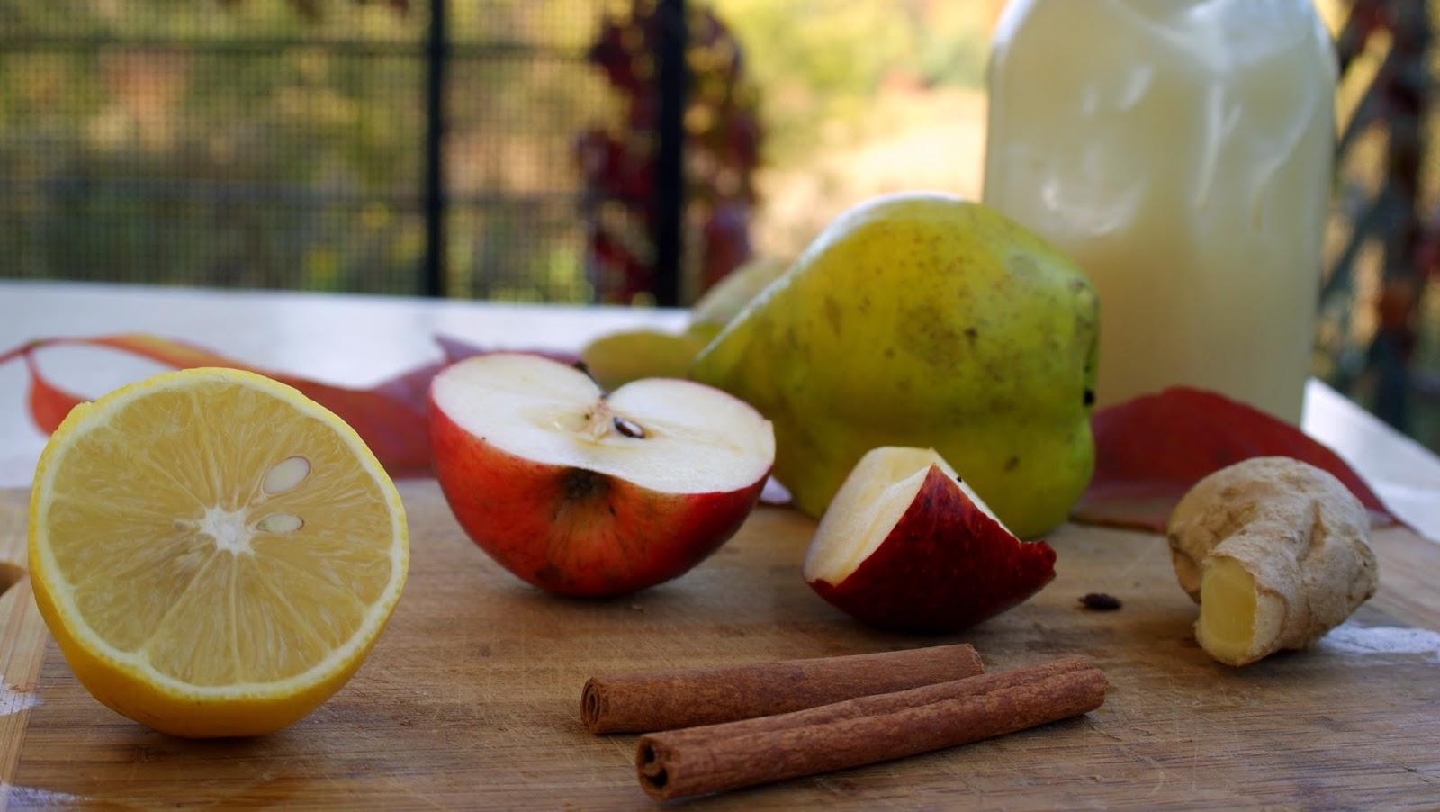 imbir cynamon cytryna miód jabłko  grzaniec