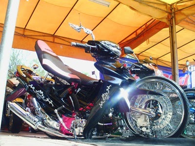 Modifikasi motor Ceper Suzuki Shogun