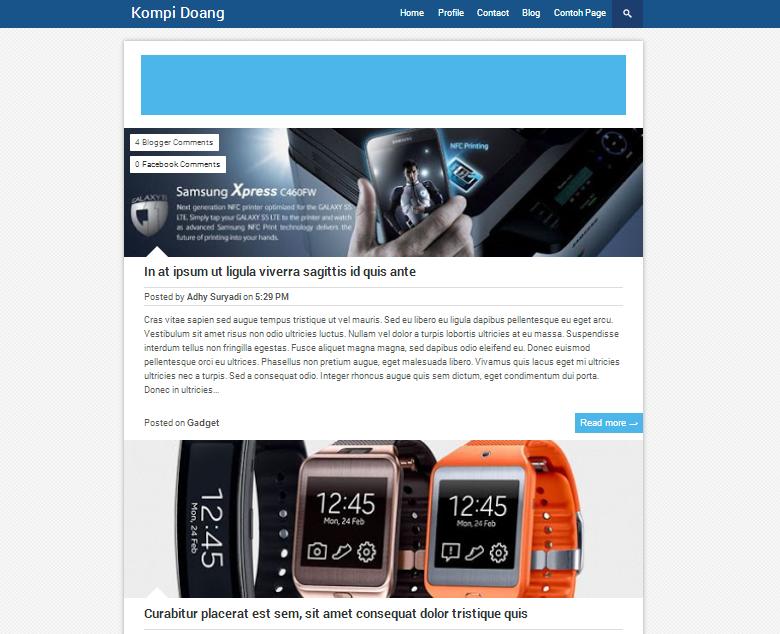 Template Blogger Premium Free