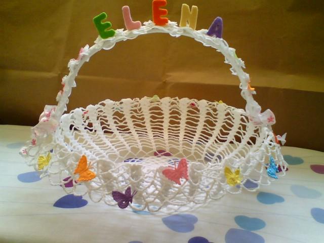 Creare con le mani e la fantasia farfalle uncinetto - Cestini porta bomboniere ...