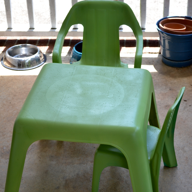 Architecture Of A Mom How To Spray Paint Plastic Outdoor Furniture