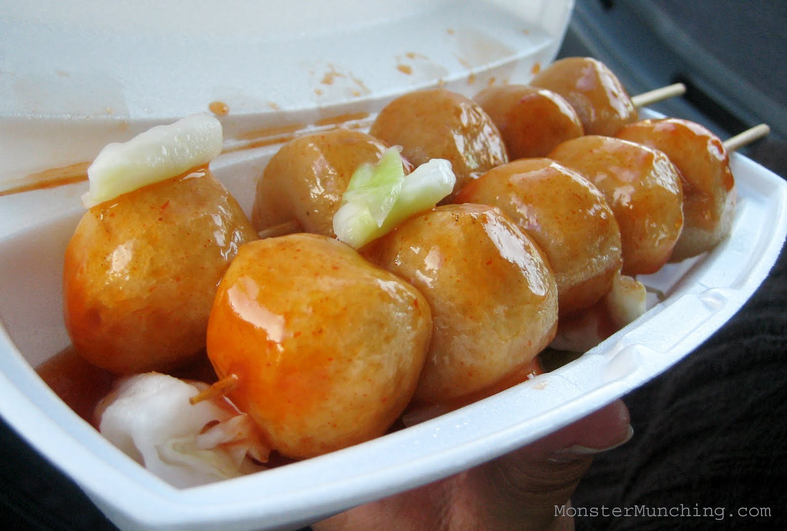Monster munching hong kong fishball house 39 s fishballs on for What is fish food made of