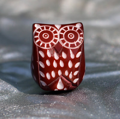 owl themed resin drawer pull
