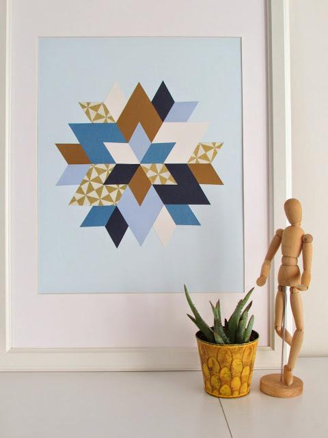 Angesagte Geometrie an die Wand – Grafik-Kunst zum Selbermachen