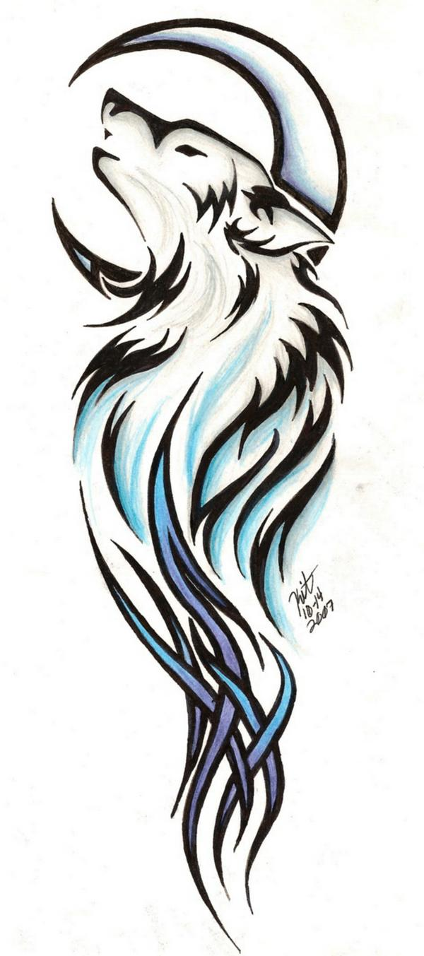 Andriaj89 wolf tattoos tribal meanings for Tribal wolf tattoo