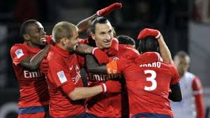Paris Saint Germain celebrando un gol
