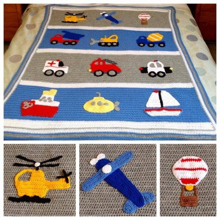 Boys Will Be Boys Blanket - Free Pattern