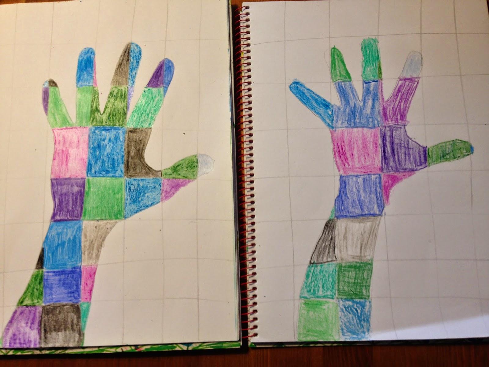 De miniklas een blog over thuisonderwijs art onze hand in warme en koude kleuren - Lijst van warme kleuren ...