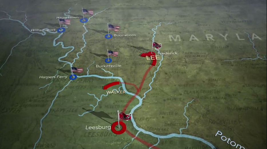 Animated Battle of Antietam MapBattle Of Antietam Simple Map