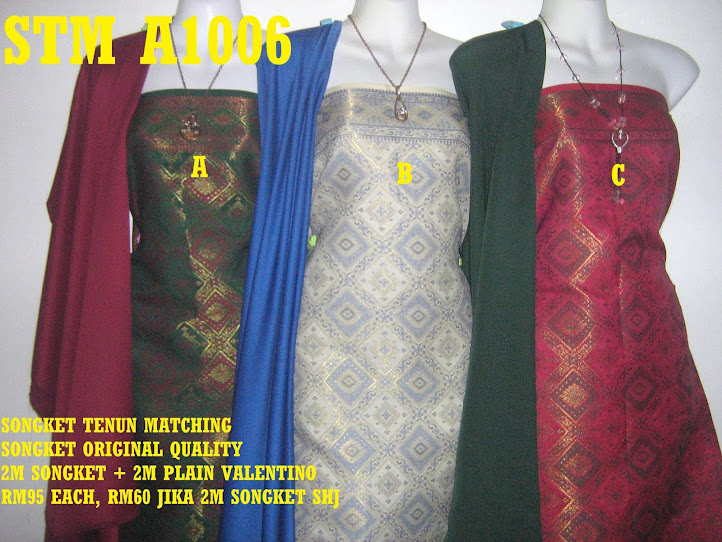 STM A1006: SONGKET TENUN MATCHING, HIGH QUALITY, 2M SONGKET + 2M PLAIN